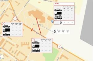 замер транспортных и пешеходных потоков
